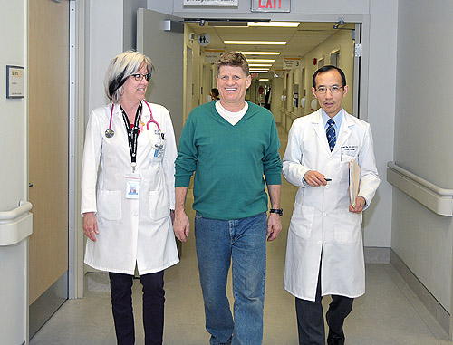 Dr. Chin, Danter and Wendy Shoff, research coordinator