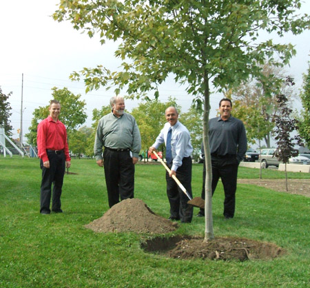 First of 72 trees being planted