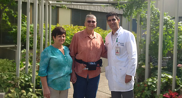 Charles with wife Jean and Dr. Nagpal