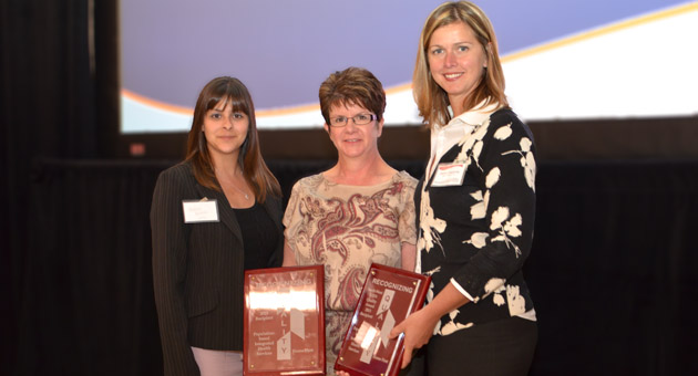 Accepting the LHIN quality award