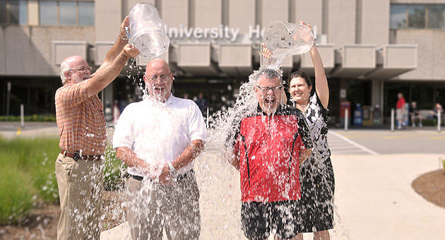 LHSC President and CEO takes ice bucket challenge with Dr. Paul Cooper