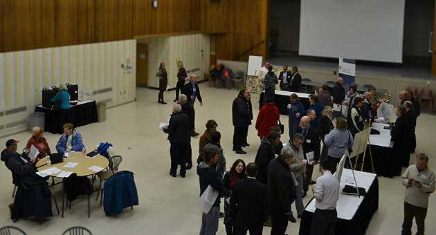 Shot of the open house by London Community News