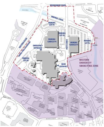 University Hospital map of property boundaries