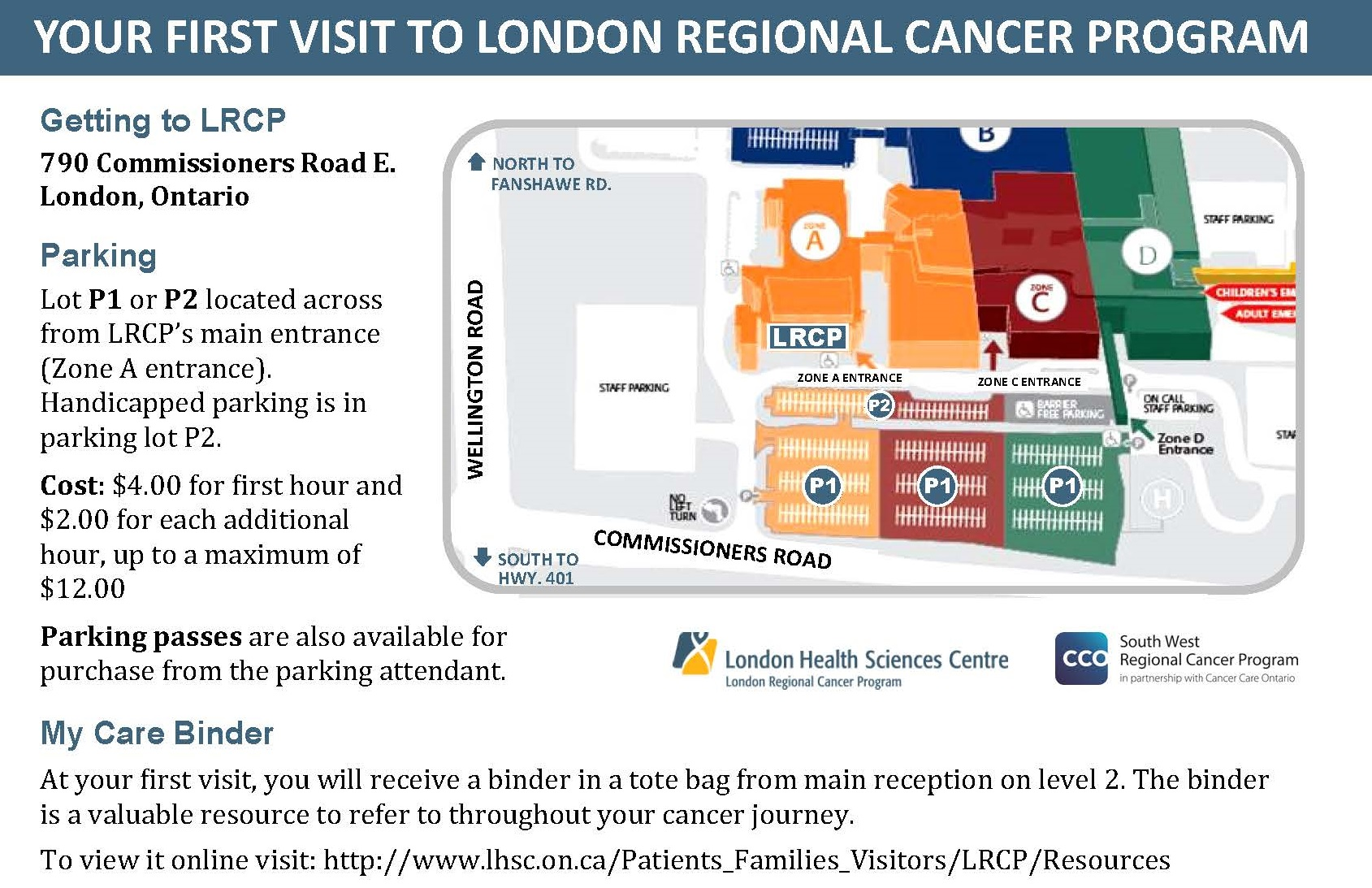 Victoria Hospital London Map Zone E.How To Find Us Lhsc