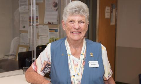 Waiting to help: Barbara Elliott is eager to return to the volunteer role she has held for 30 years