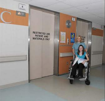 Patient being discharged from hospital