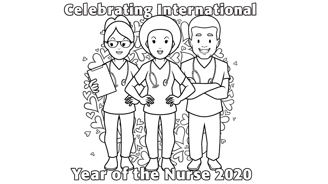 Show your support for our nurses by completing a colouring